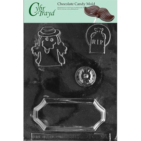 Cybrtrayd Life of the Party H093 Halloween Centerpiece Chocolate Candy Mold in Sealed Protective Poly Bag Imprinted with Copyrighted Cybrtrayd Molding Instructions - The Best Halloween Party In London