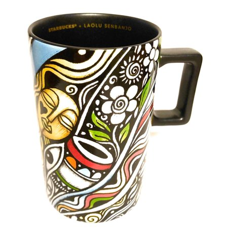 STARBUCKS + LAOLU SENBANJO Limited Edition Ceramic Coffee Mug, 12 Oz