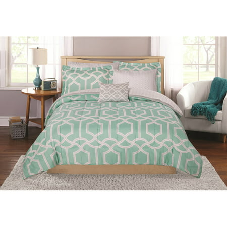 Mainstays Winston Bed in a Bag Coordinating Bedding Set, Twin/Twin