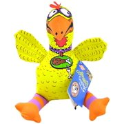 "1 count (14""L X 5.5""W) Fat Cat Suspicious Chicken Flobbability Barnyard Bullies Dog Toy"
