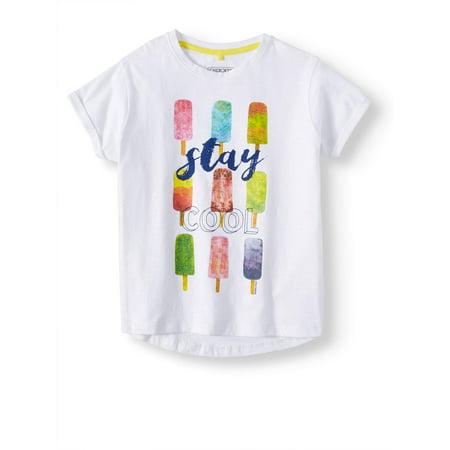 Stay Cool Boatneck Glitter Graphic T-Shirt (Little Girls & Big Girls)