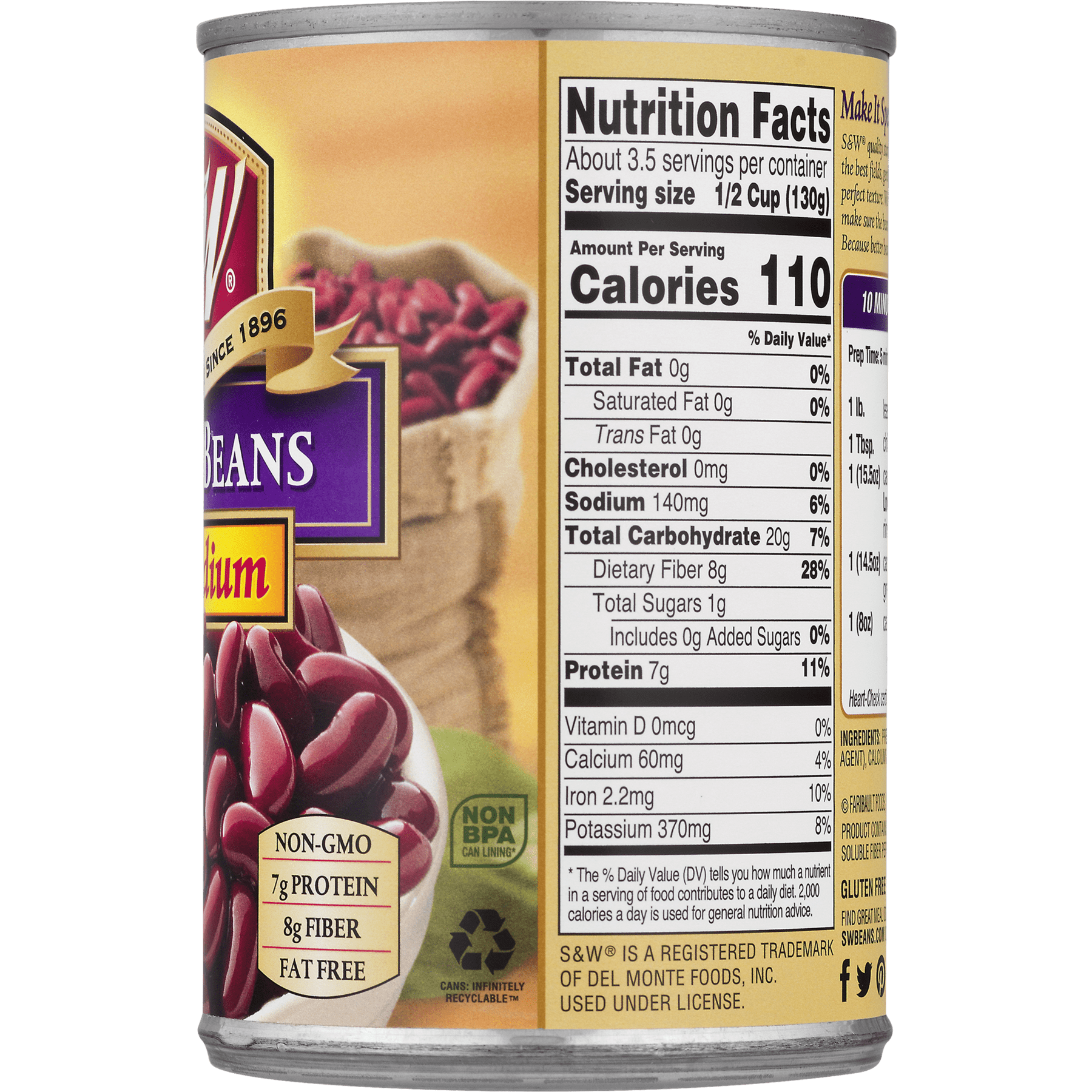 Kidney Beans Nutrition Facts Nutritionwalls
