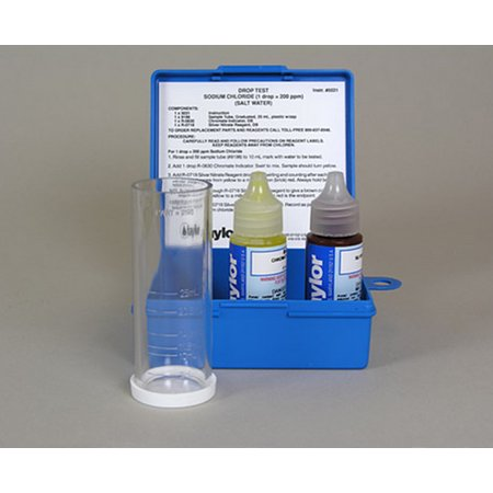 Taylor K-1766 Liquid Swimming Pool Spa Sodium Chloride Salt Water Drop Test Kit (2 (Best Test Kit For Saltwater Pool)