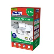 Hefty SHRINK-PAK 4 XL Vacuum Storage Cubes
