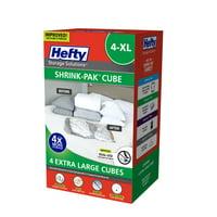 Hefty SHRINK-PAK 4 XL Vacuum Storage Cubes