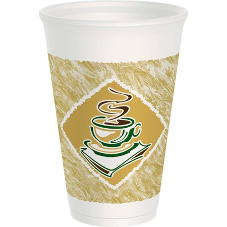 Dart Cafe G 16 Ounce Foam Hot/Cold Cups, 1000ct Dart Dart Foam Cup