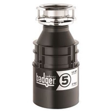 In-Sink-Erator Badger 5 Garbage Disposal With Power Cord, 1/2 (Badger 5 Disposer)