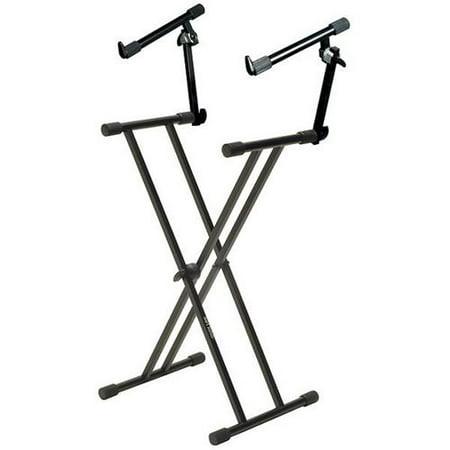 quik lok t22 double braced 2 tier keyboard stand. Black Bedroom Furniture Sets. Home Design Ideas
