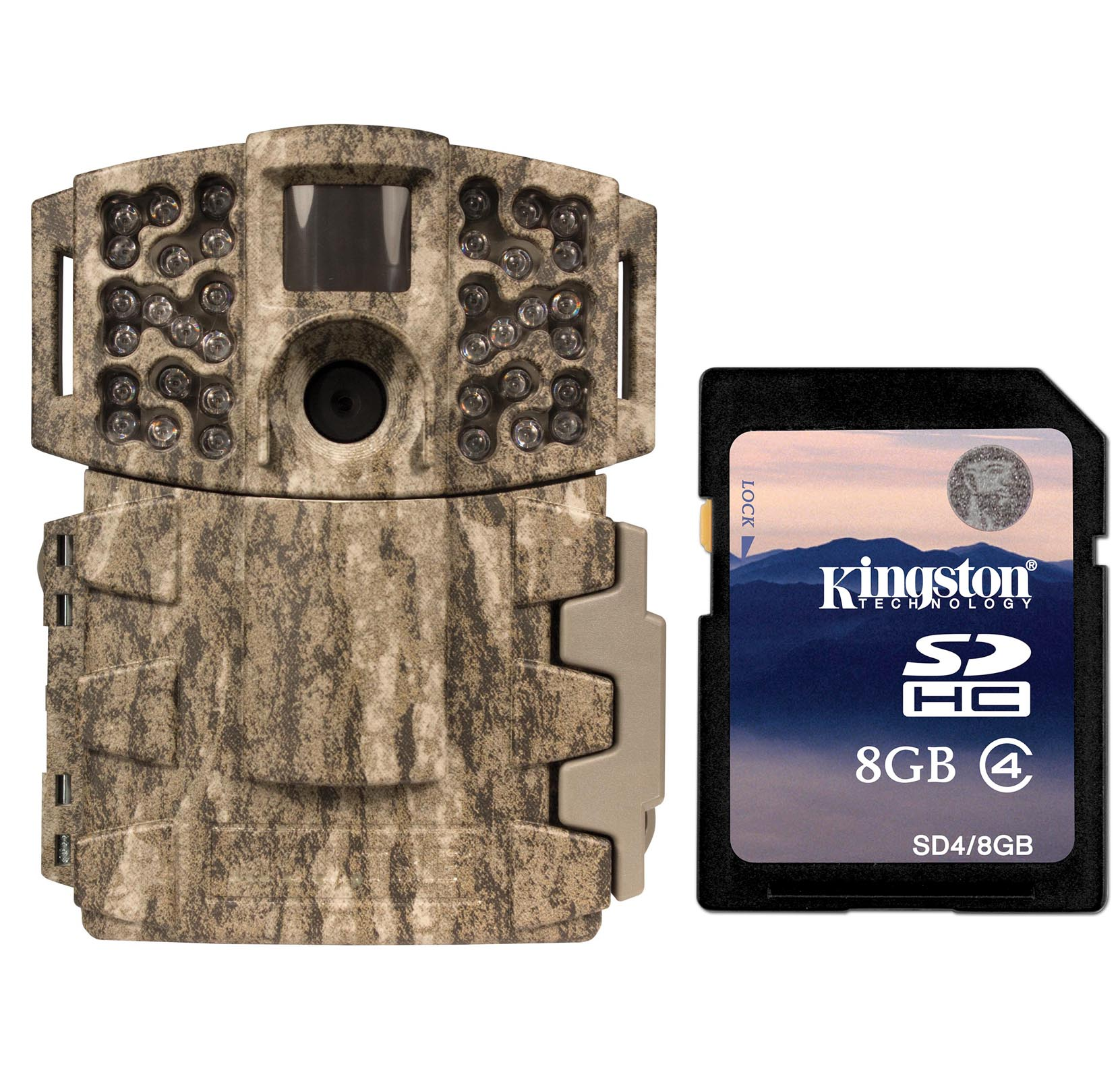 Moultrie No Glow Invisible 14MP Mini 888i Infrared Trail Game Camera w  SD Card by Moultrie