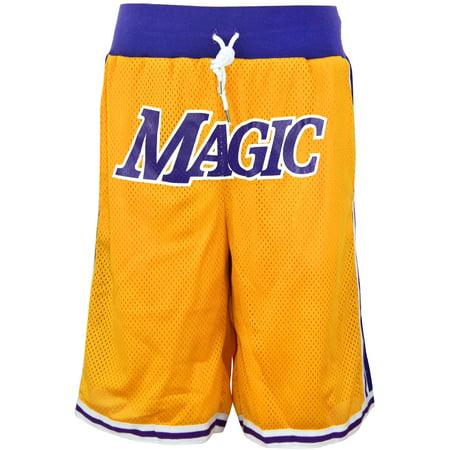 Oakbay Fits Men's Long Basketball Active Running Mesh Shorts Magic Print Black White Gold Purple Custom Fit Mesh Shorts