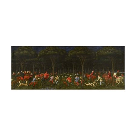 The Hunt in the Forest, C.1465-70 Print Wall Art By Paolo (Paolo Exterior Wall)