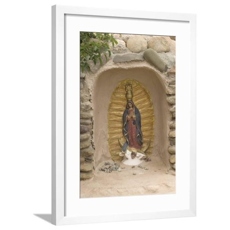 Our Lady of Guadalupe Niche Statue, St. Francis of Assisi Churchyard, Ranchos De Taos, New Mexico Framed Print Wall