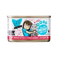 (24 Pack) Weruva BFF Tuna & Shrimp Sweethearts Recipe Grain-Free Wet Cat Food, 3 oz. Cans