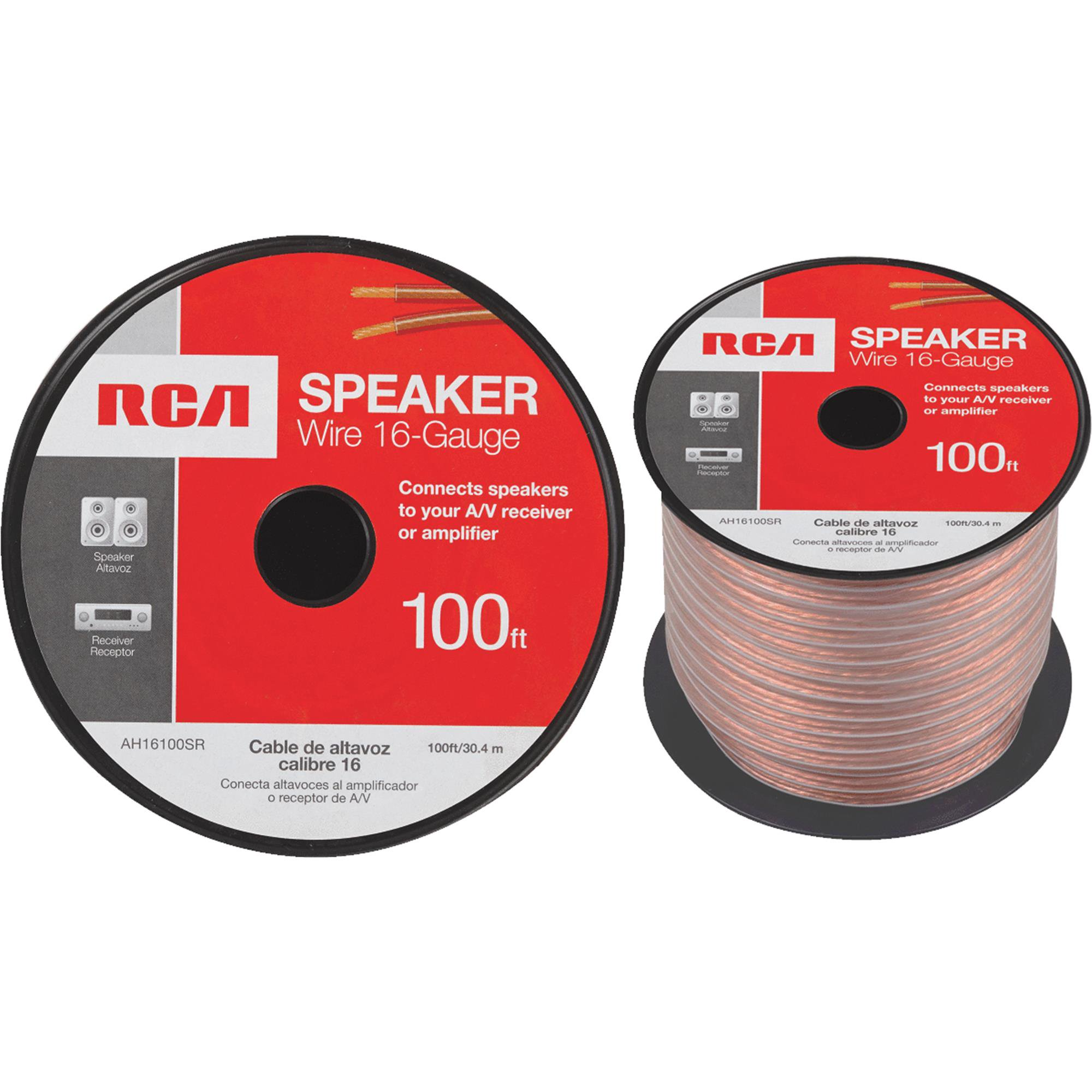 RCA 16-Gauge Speaker Wire, 100'