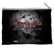 Batman Arkham Asylum Logo Accessory Pouch White 8.5X6