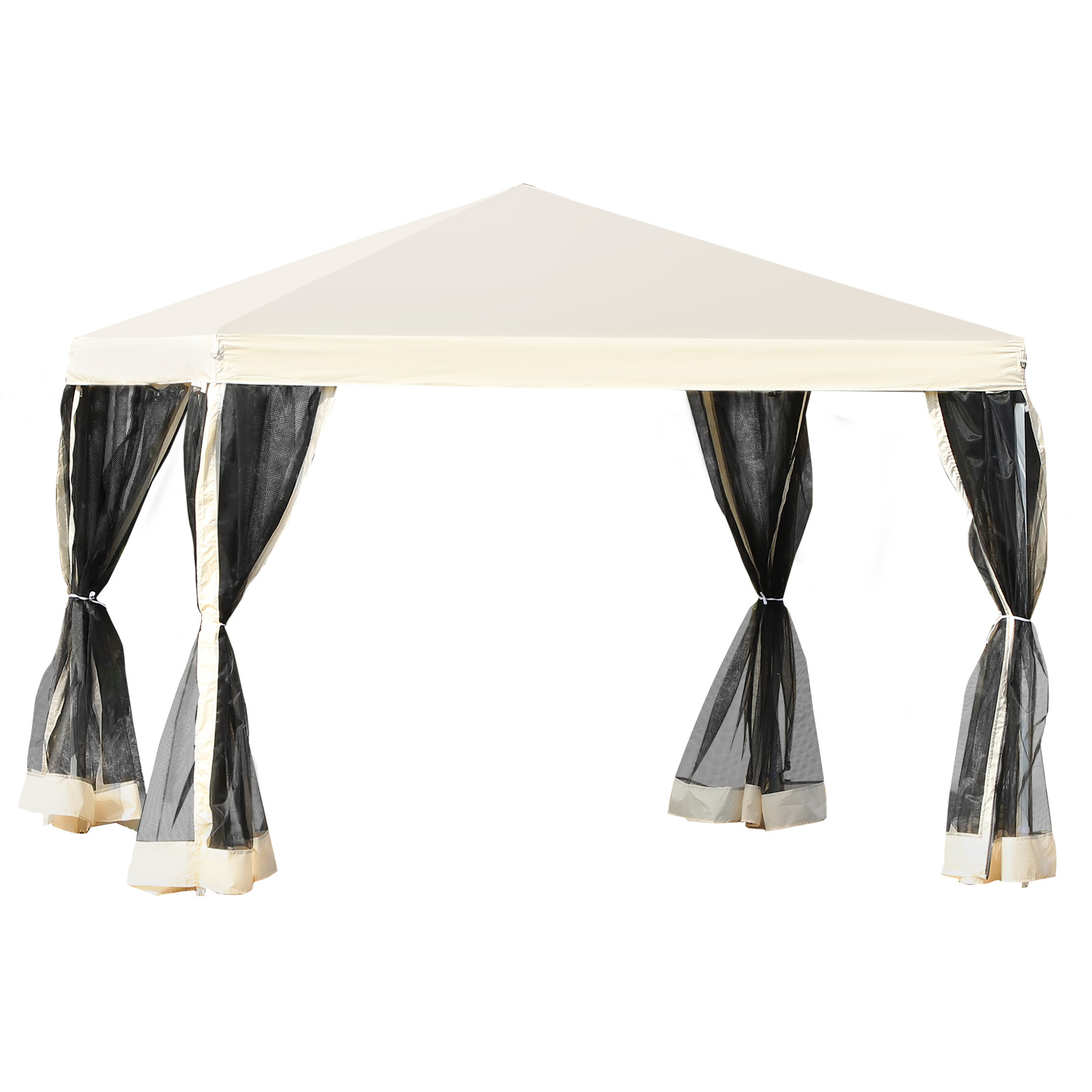 Outsunny 10 X 10 Pop Up Canopy Vendor Tent With