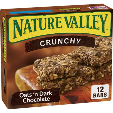 Nature Valley Granola Bars Crunchy Oats & Dark Choc (Total 12 - Low Fat Crunchy Granola