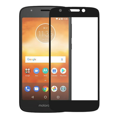 Motorola Moto G6 Play, G6 Forge Temper Glass Anti Scratch [Full Screen Coverage] Glass Screen Protector for Moto G6 Play - Black - image 5 of 5