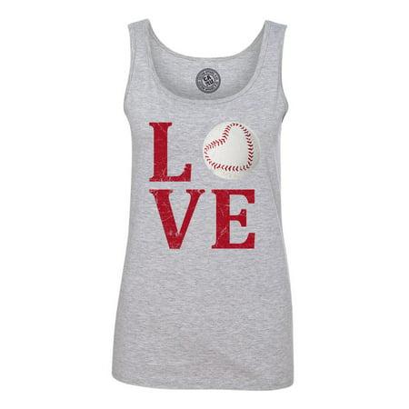 Love Baseball Distressed Womens -
