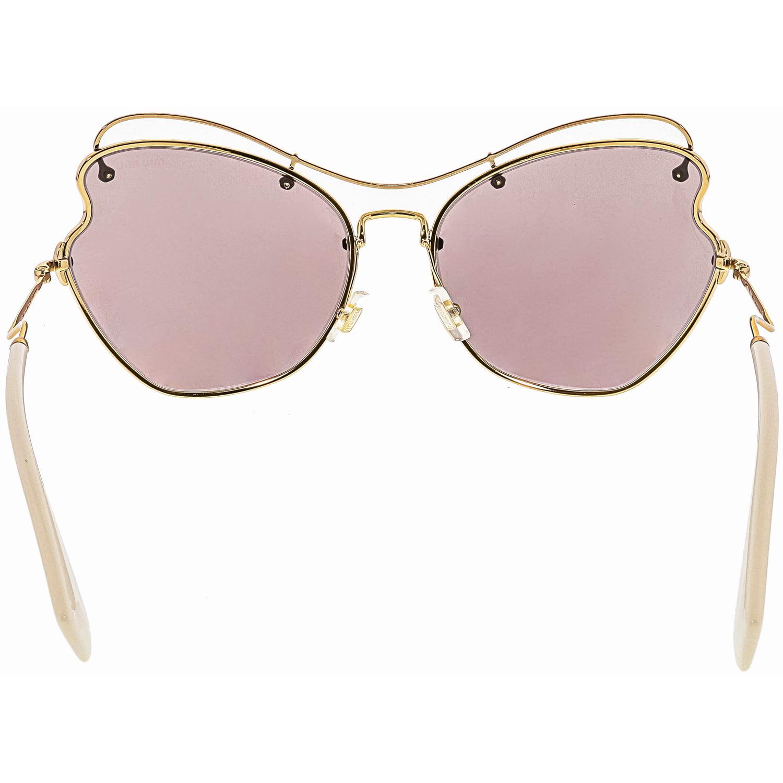 e66ba23181c Miu Women s MU56RS-7OE6X1-65 Gold Butterfly Sunglasses