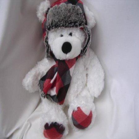 (Aviator Teddy Bear White Plush Toy Large 18