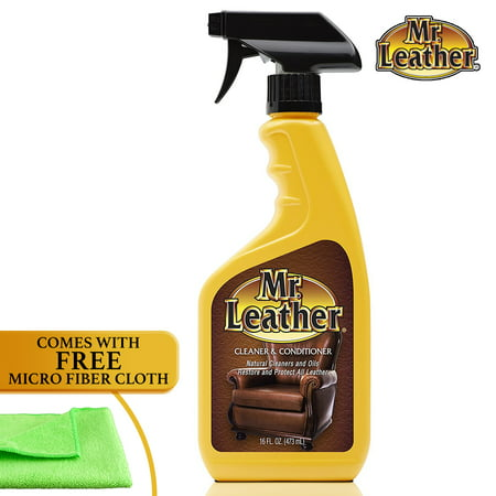 Mr. Leather Leather Cleaner & Conditioner for Automotive, Upholstery and