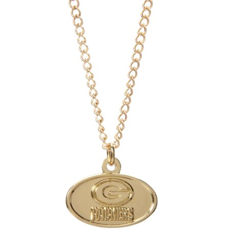 Green Bay Packers WinCraft Women's Logo Necklace - Gold - No