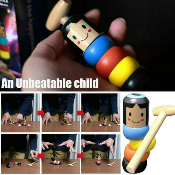 Immortal Daruma Small Wooden Man Stubborn Unbreakable Wood Magic Game Toy MA