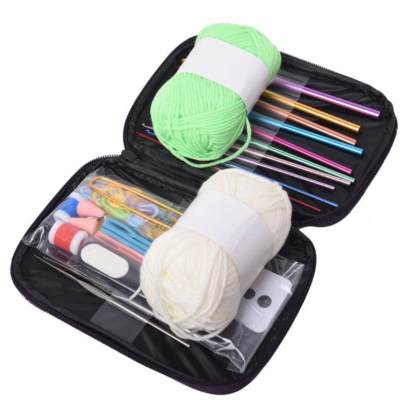 Okeba 2.0-6.5mm Crochet Hooks Knitting Knit Needles Weave Craft Yarn Gauge Kit with Case