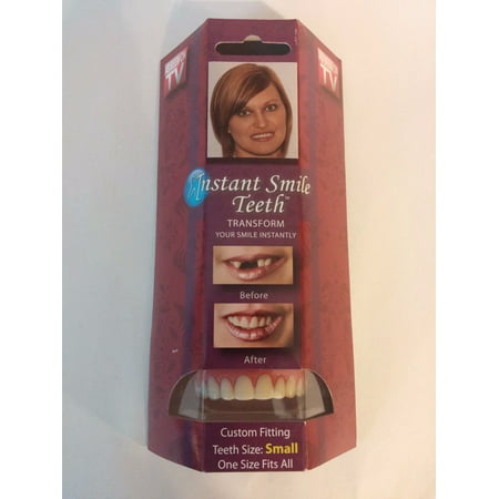 Ti Fake Teeth (Instant Smile Deluxe Teeth SMALL Top Veneers Fake Cosmetic Impression)