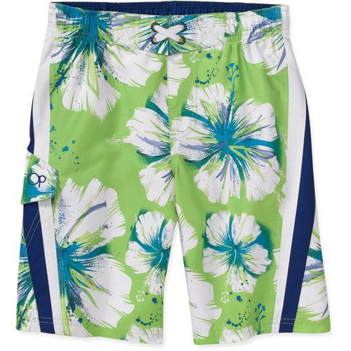 Op - Boys' Printed Floral Swim Shorts