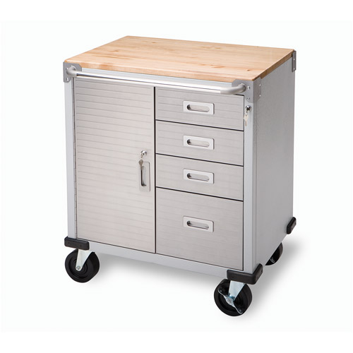 Seville Classics UltraHD Rolling Storage Cabinet with Drawers ...