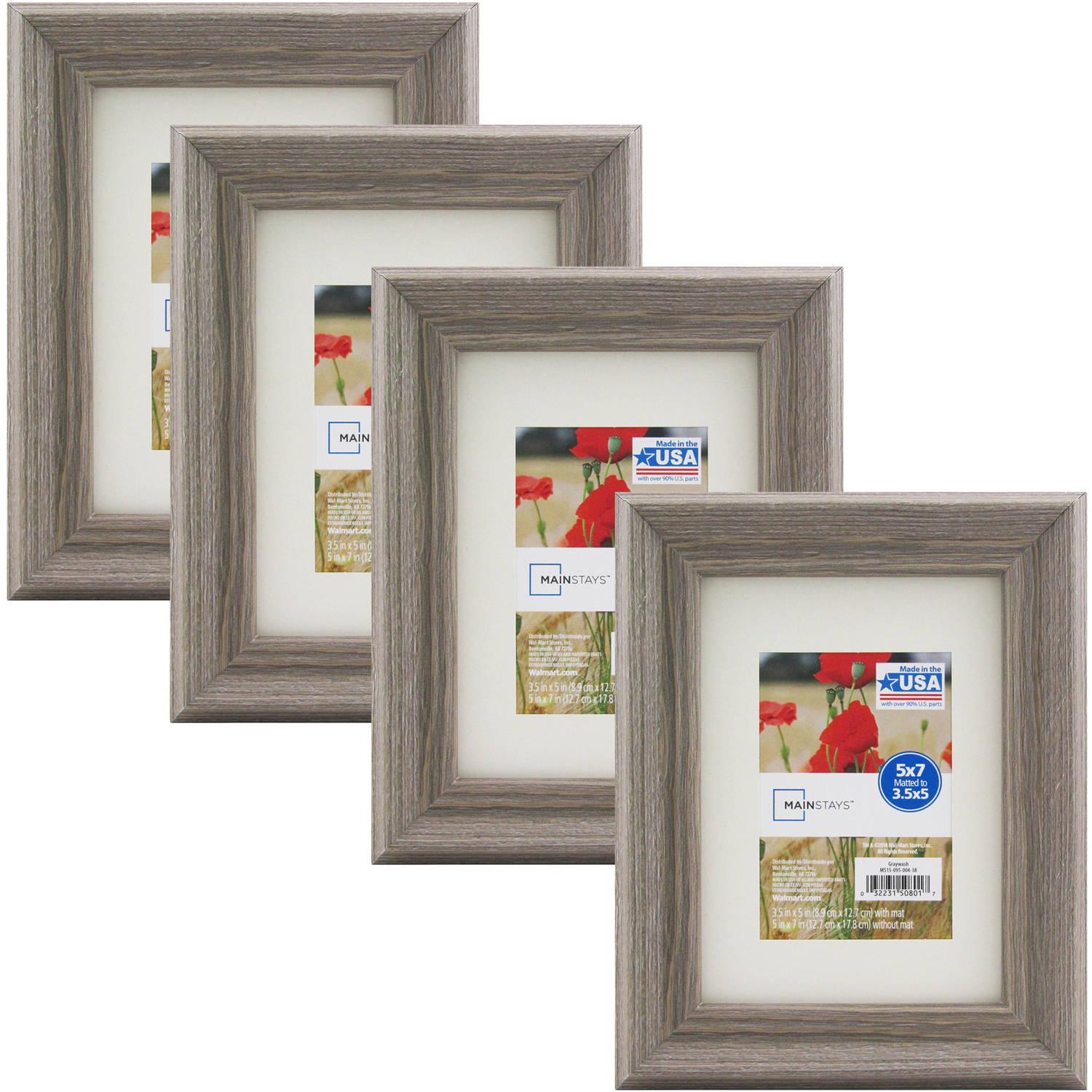 Mainstays Graywash Frame, Set of 4 - Multiple Sizes available ...