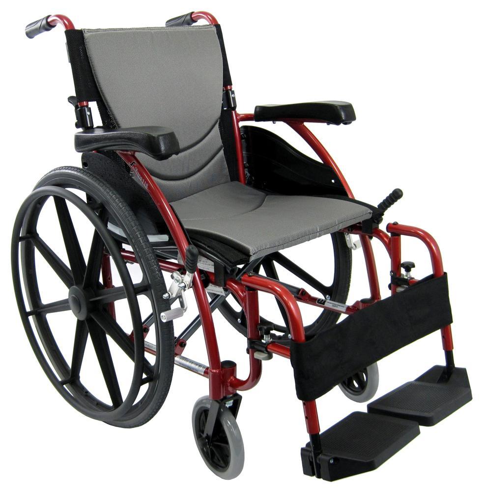 Karman S-Ergo 115  Ultra Lightweight Ergonomic Wheelchair with 3 Seat Widths, Swing Away Footrest