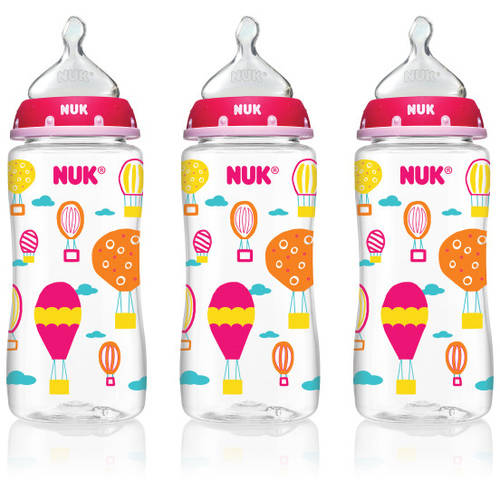 Nuk Hot Air Balloons Orthodontic Bottle For Girls, 10 Oz, BPA-Free