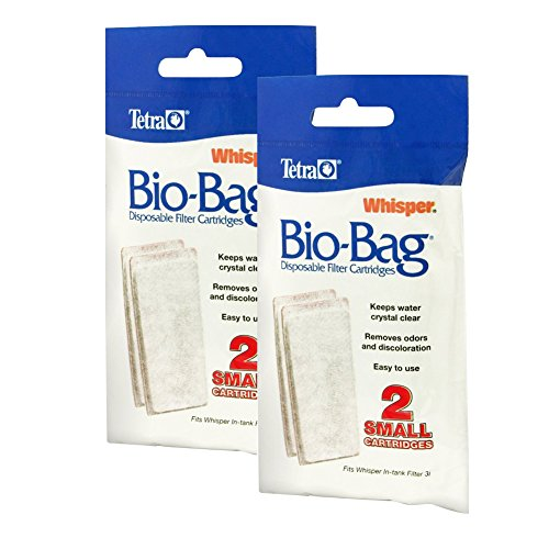 Tetra Whisper Assembled Bio-Bag Filter Cartridges, Small, 4-Count