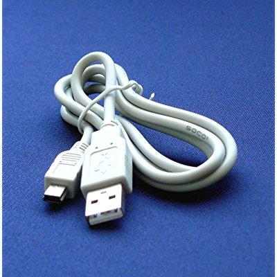 canon powershot sd1200 is & sd1200is digital camera compatible usb 2.0 cable cord ifc-400pcu & ifc-300pcu model 2.5 feet white - bargains depot
