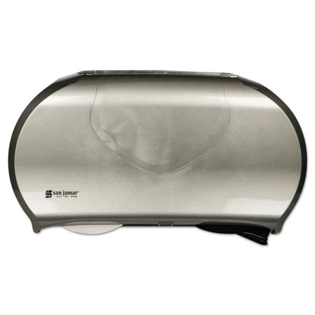 Twin Jumbo Bath Tissue Dispenser, 19 1/4 X 6 X 12 1/4, Black/stainless (Twin Jumbo Bath Tissue)
