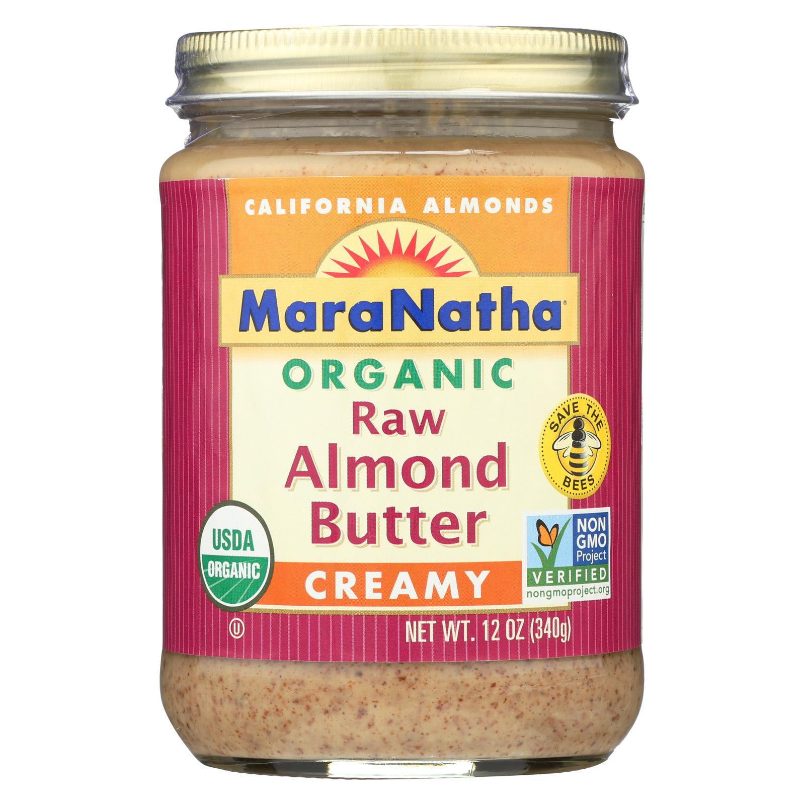MaraNatha Organic Raw Almond Butter, Creamy, 12 oz.