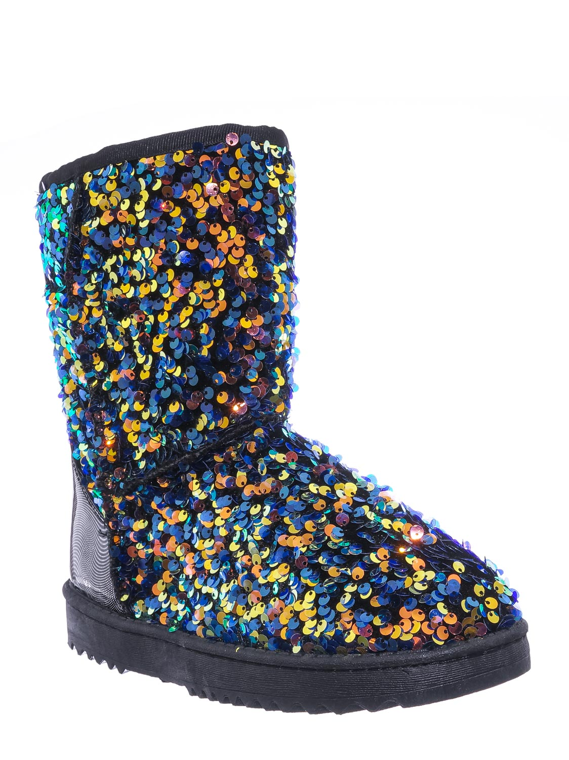 Girls Mid Calf Winter Shoes Annie42K Children/'s Sequins Faux-Fur Lined Boots