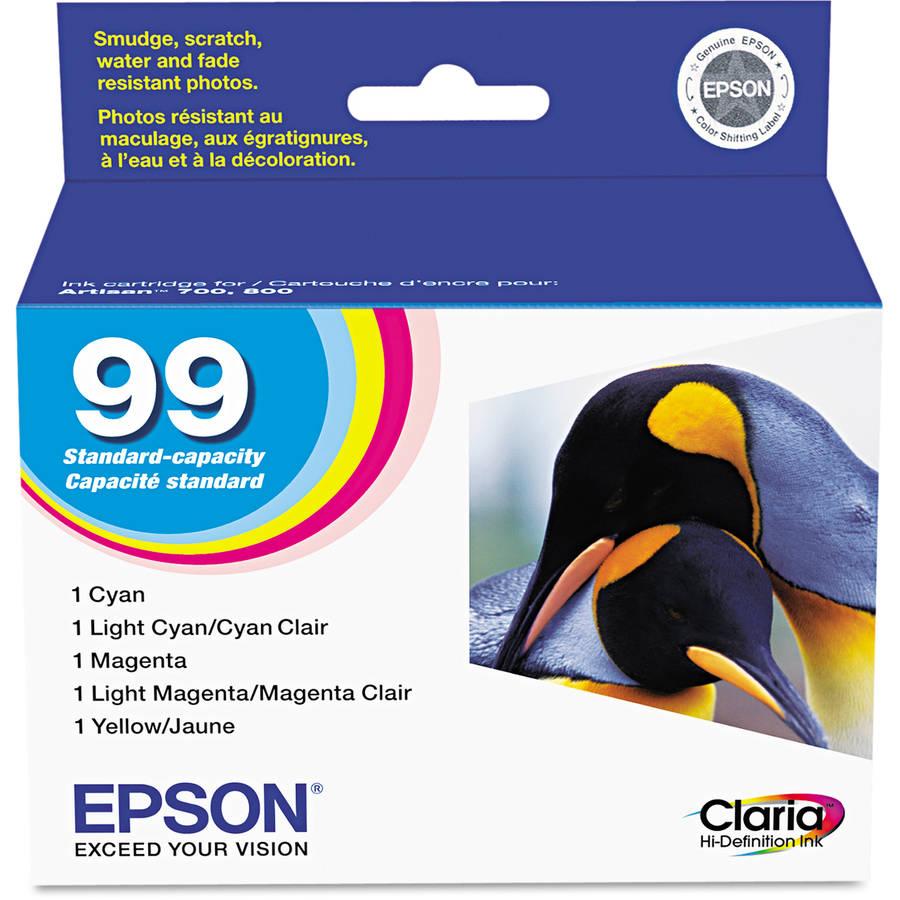 Epson 99 Combo Inkjet Print Cartridge, 5pk (T099920)