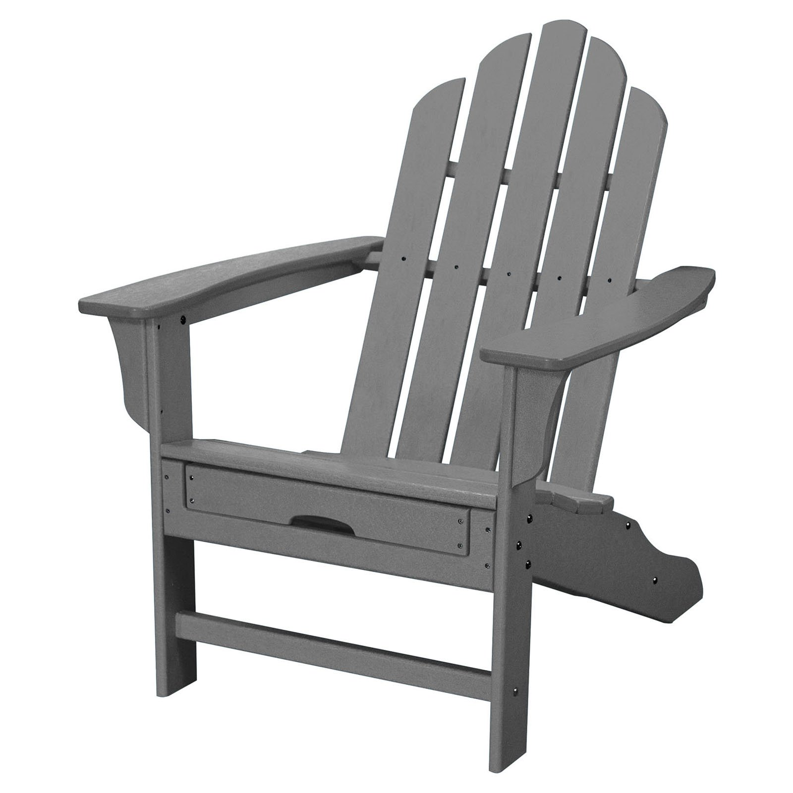 Hanover Outdoor All Weather Contoured Adirondack Chair With Hideaway Ottoman