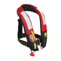 Lifesaving Pro® Premium Automatic / Manual Inflatable Life Jacket PFD Life Vest Deluxe Inflate Survival Aid Lifesaving PFD Red