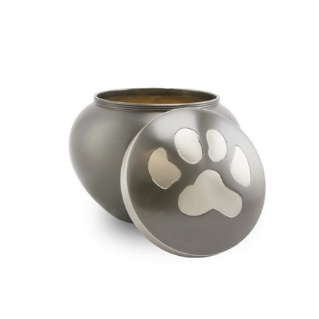 Medium Gray Slate - Medium Odyssey Pet Urns - Slate - Grey Brass 70 Pounds Medium