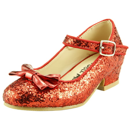 The Doll Maker Bow Top Glitter Strap Pump-TD173034C-1 Andy Doll Maker