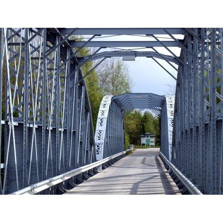 LAMINATED POSTER Bridge Outside Iron Truss Finland Steel Metal Poster Print 24 x 36 ()