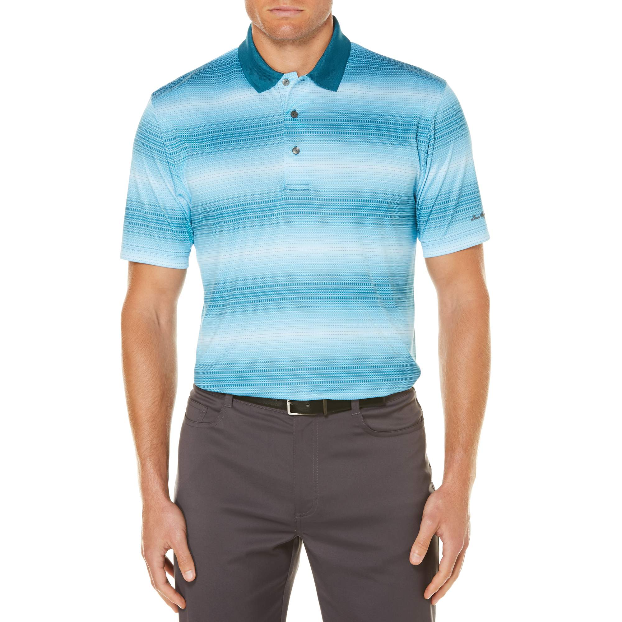 Men's Performance Short Sleeve Tonal Stripe Polo Shirt