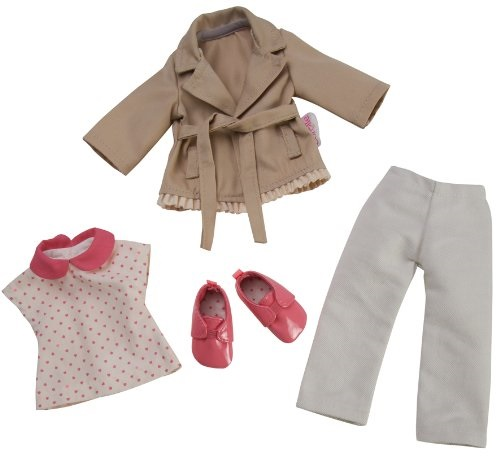 Corolle Les Cheries Trench Coat and Denim and Derbies
