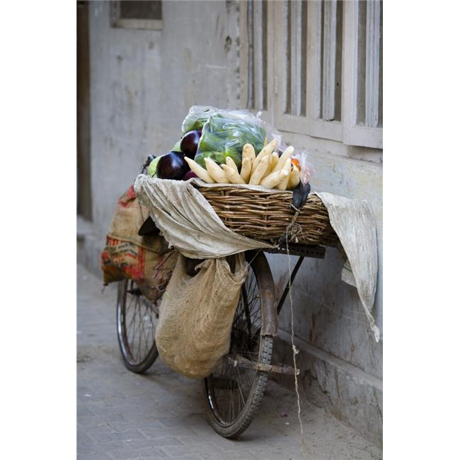 Bicycle Loaded with Food Delhi India Poster Print, Large - 24 x 38 - image 1 of 1