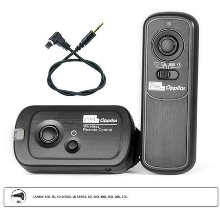 Pixel RW221 N3 Wireless Timer Shutter Release Remote Control for Canon EOS 7D, 5D series, 1D series, 6D, 50D, 40D, 30D, 20D,